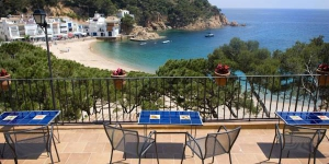 Located in a beautiful and tranquil cove along the Costa Brava, this charming modern hotel is surrounded by pine trees and is adjacent to the beach. Dine in the restaurant with panoramic views.