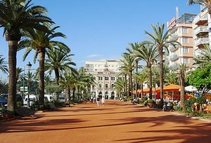 Boulevard in Lloret de Mar